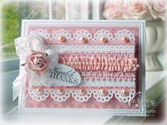 Pink Ruffled Ribbons - Scrapbook.com