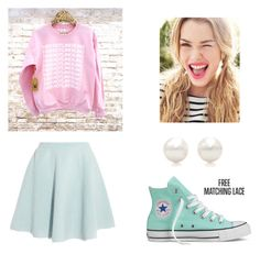 """Ice Cream Cake - RED VELVET"" by lexie-maknae ❤ liked on Polyvore featuring Sonia by Sonia Rykiel, Tiffany & Co., Converse, kpop, redvelvet and icecreamcake"