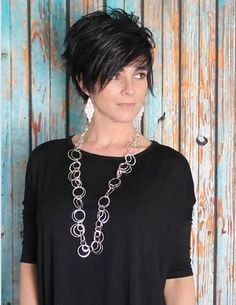 Short and sassy hair style! Very cute!