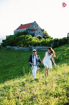 Stone houses, beautiful hills, and sprawling greens -- yes, this is also in the Philippines. What a beautiful landscape for your engagement photos! Philippines Destinations, Tagaytay Wedding, Batanes, Wedding Blog, Wedding Ideas, Stone Houses, Photo Series, Beautiful Landscapes, Most Beautiful Pictures
