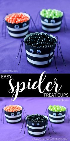 Easy Spider Treat Cu