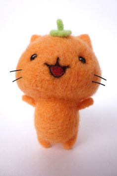 PIC ONLY FOR INSPIRATION wool felt cat craft