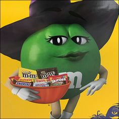 M&M's itself sponsors this Best-House-On-The-Block Halloween Designation pitch. The hint is that you will become known as the best Trick-or-Treat location M&m Characters, All Candy, Store Fixtures, Good House, Trick Or Treat, Pallet, Ms, Retail, Halloween
