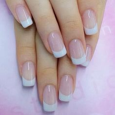 Classic mamsurivipa moonupim_m annieaikooke pimrapat_s kaisuwasara wowmynail_ddd French Tip Acrylic Nails, French Manicure Nails, French Nails, Bride Nails, Wedding Nails, Classic Nails, Classic French Manicure, Stylish Nails, Nail Polish Colors