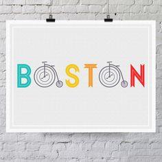 Boston Bike Print /  Quincy Moore