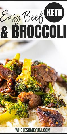 Easy Paleo Keto Beef and Broccoli Stir Fry Recipe - No one will know this is a paleo keto beef and broccoli recipe! This flavorful, easy beef and broccoli stir fry tastes like it came from a Chinese… More