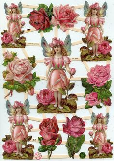 ROSE FAIRY Die Cuts by OneDayLongAgo on Etsy, $2.95