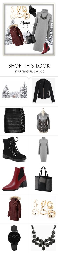 """Winter Dress"" by krystle-king on Polyvore featuring White House Black Market, Gucci, BCBGMAXAZRIA, G.H. Bass & Co., Warehouse, SOREL, CLUSE, Torrid and under100"