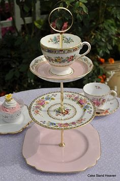 Dainty Pink Cake Stand by cake-stand-heaven, via Flickr