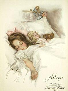 Asleep by Harrison Fisher
