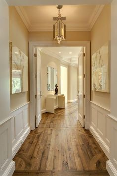 Love the cream walls white wood medium wood floors! Love the cream walls white wood medium wood floors! was last modified: March 2014 by admin Cream Walls, Cream Kitchen Walls, Cream Wall Paint, Kitchen Floor, Open Kitchen, My New Room, Home Fashion, Style At Home, My Dream Home