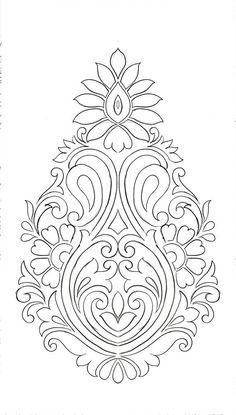Hand Embroidery Design Patterns, Stencil Patterns, Hand Embroidery Patterns, Stencil Designs, Pattern Art, Beaded Embroidery, Embroidery Stitches, Indian Embroidery Designs, Islamic Art Pattern