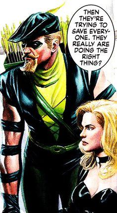 Green Arrow & Black Canary By Alex Ross