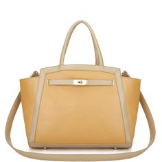 Yellow Cute Girl Series Contrast Color Handbag