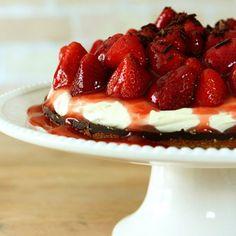 Strawberry Tart with Chocolate Ganache and Mascarpone Cream