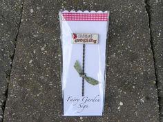 Fairy Garden Sign - ladybug crossing
