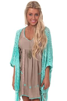 Lime Lush Boutique - Mint Crochet Knit Kimono, $38.99 (http://www.limelush.com/mint-crochet-knit-kimono/)#lovefashion #new #fashionblog #instafashion #photomodel #beauty #trend #queen #day #us #follow #girl #dress #princess #look #lookbook #like #beautiful #cute #sexy #iphonesia
