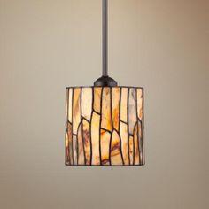"Sentiero Mosaic 7"" Wide Tiffany Style Mini Pendant Light - #2T086 | LampsPlus.com - breakfast bar"