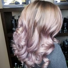 """1,468 Likes, 22 Comments - Amy (@camouflageandbalayage) on Instagram: """"My niece has THE MOST GORGEOUS HAIR!!! Pastel Balayage... Joico Intensity Metalics Mauve with a…"""""""