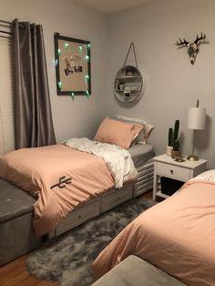 notitle - For the home kleines Schlafzimmer kleines Schlafzimmer bett # Teenage Girl Bedroom Decor, Girl Bedroom Designs, Room Ideas Bedroom, Home Decor Bedroom, Modern Bedroom, Twin Girl Bedrooms, Bedroom Small, Bedroom Bed, Bed Room