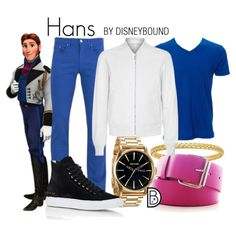 Hans by leslieakay on Polyvore featuring Versace, Wooyoungmi, Nixon, Common Projects, men's fashion, menswear, disney, disneybound and frozen