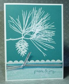 Ornamental Pine Christmas card using Ornamental Pine stamp set from Stampin' Up!'s 2014 Holiday Catalog.