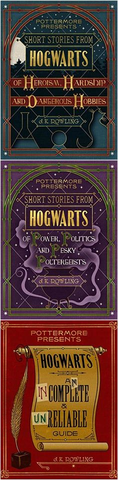 Pottermore Presents: A Trio of New Books About Harry Potter's Wizarding World. Learn more here.