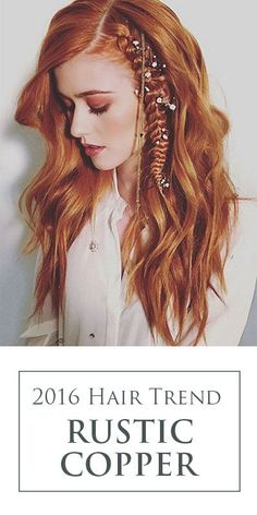 The hottest red hair color of 2016? Meet Rustic Copper - it's poised to be one of this year's top hair color trends! Hair By: Justin Dylan