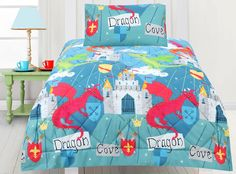 Dragon Cove Comforter Set Cove FC Comforter And Pillow Cases - Chinese dragon comforter set