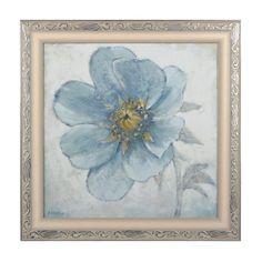 Soft Blue Poppies II Framed Art Print