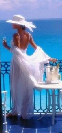French Riviera, love the dress!