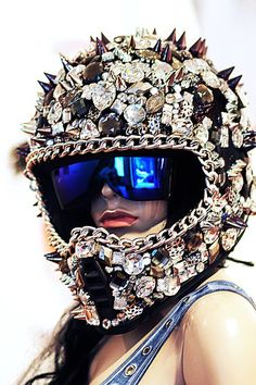 jewels on a helmet with cool googles. Nice work by Deryck Todd