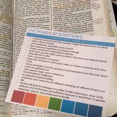 The power of scripture handout/bookmark/reminder by Richard G Scott.