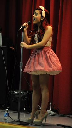 """Ariana Grande """"CAT"""" from Victorious makes an appearance at the Frank Del Olmo School in Los Angeles, CA during a Traveling Guitar Foundation Event. See other Music Celebs Picts and their video at http://mp3dojo.com"""