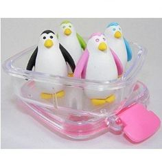 4 Penguins in a Box Eraser Set *** Read more reviews of the product by visiting the link on the image.
