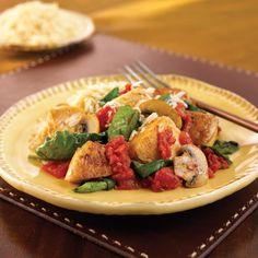 Spinach,  mushroom, tomato chicken