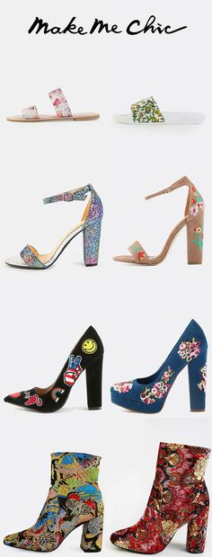 Floral shoes.Spring Steps.