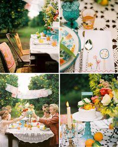 summer picnic, idea, anniversary dinner, birthday parties, colors