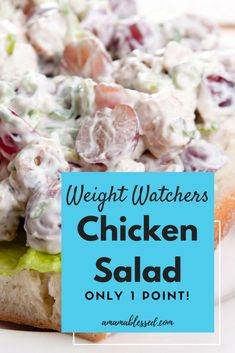 Weight Watchers Chicken Salad – Low Points and Delicious! Weight Watchers Chicken Salad – Low Points and Delicious!,Weight Watchers Looking for something delicious to try this summer? Check out this Weight Watchers Freestyle chicken. Weight Watcher Dinners, Weight Watchers Lunches, Weight Watchers Meal Plans, Weight Watchers Smart Points, Weight Watchers Free, Weight Watcher Breakfast, Weight Watchers Appetizers, Weight Watchers Program, Weight Watcher Smoothies