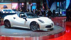 Alfa Romeo reveals the 4C Spider Design Preview at the 2014 Geneva Motor Show