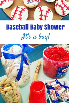 It's a boy! Looking to plan the perfect co-ed baby shower? Here is some inspiration for a fun baseball themed baby shower! Great for a BBQ! Shower Party, Baby Shower Parties, Baby Showers, Baby Shower Games, Baby Boy Shower, Gender Neutral Baby Shower, Everything Baby, Baby Decor, Baby Shower