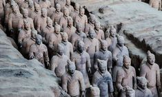 The Lavish Qin Shi Huang Tomb Was Built for Immortality Terracotta Army, Middle School History, Heritage Site, Emperor, Lion Sculpture, Horses, Building, China, Coron