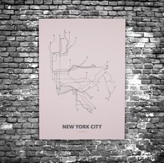 New York City C8 - Acrylic Glass Art Subway Maps (Acrylglas, Underground)