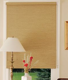 For those of you who like the textured look but would rather have a roller shade, Country Curtains Wicker Roller Shadeis reasonably priced ...