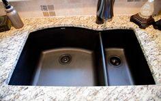 Blanco granite composite sink Anthracite, Delta Addison pull-out kitchen faucet Venetian bronze