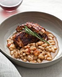 Slow Cooker Glazed Pork Ribs with White Beans Recipe on Food & Wine