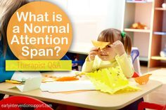 What is a Normal Attention Span? Therapist QA | Early Intervention Support