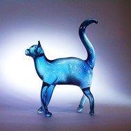 Standing Glass Cat