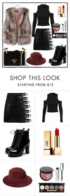 """Winter Fashion Idea"" by milanoo-fashion on Polyvore featuring Yves Saint Laurent, Saks Fifth Avenue, Bobbi Brown Cosmetics and Prada"