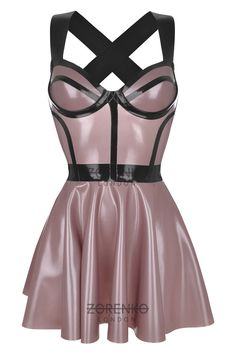 RITZ Latex Skater Cage Dress by ZorenkoLondon on Etsy